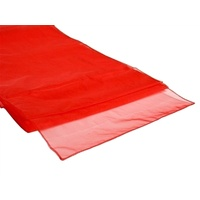 Organza Table Runner - Red