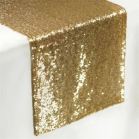 Sequin Glitz Table Runner - Gold