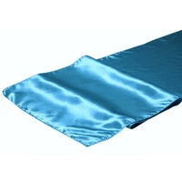 Satin Table Runner - Aqua/Tiffany Blue