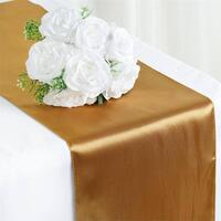 Satin Table Runner  -  Antique Gold