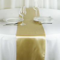 Satin Table Runner - Light Gold
