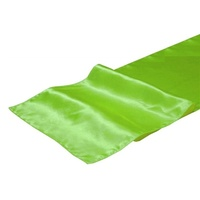 Satin Table Runner - Apple Green