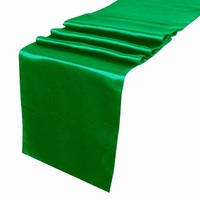 Satin Table Runner - Kelly Green