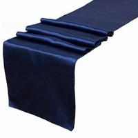 Satin Table Runner - Navy Blue