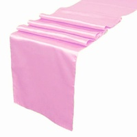 Satin Table Runner - Pink