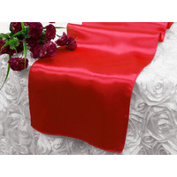 Satin Table Runner - Red
