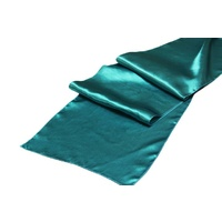 Satin Table Runner - Teal