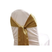 Pack of 5 Satin Chair Sashes - Gold
