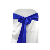 Pack of 5 Satin Chair Sashes - Royal Blue