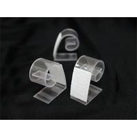 Table Skirt Clips LARGE Plastic w/hook& pile tape - Bag of 10