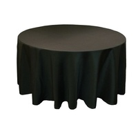 Round Tablecloth 335cm (Diameter) - Black