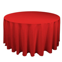 Round Tablecloth 230cm (Diameter) - Red