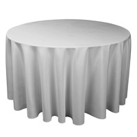 Tablecloth Round 230cm (Diameter) Round - Silver Grey