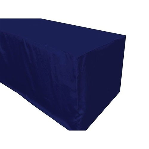 6ft Fitted Rectangular  Tablecloth - Navy (1.8m)