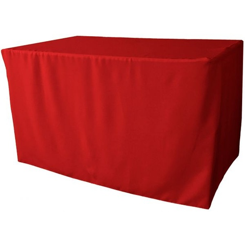 6ft Fitted Rectangular  Tablecloth - Red (1.8m)