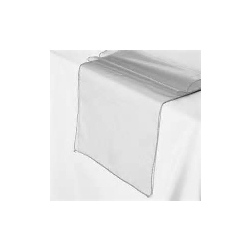 Organza Table Runner - Silver