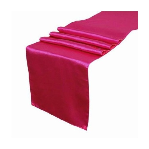 Satin Table Runner - Fuschia