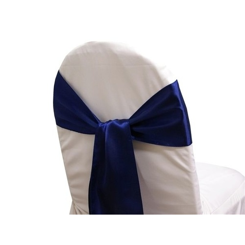 Pack of 5 Satin Chair Sashes - Navy Blue