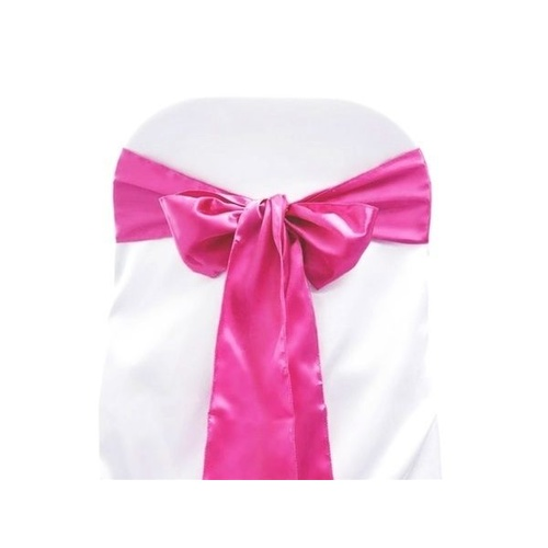 Pack of 5 Satin Chair Sashes - Fuchsia
